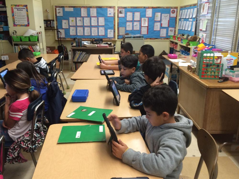 Denker Avenue students participated in the Hour of Code Week on December 10,  2015.
